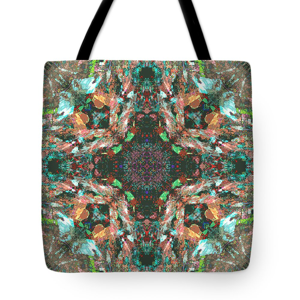 Colors Tote Bag featuring the digital art Enebro by Blind Ape Art