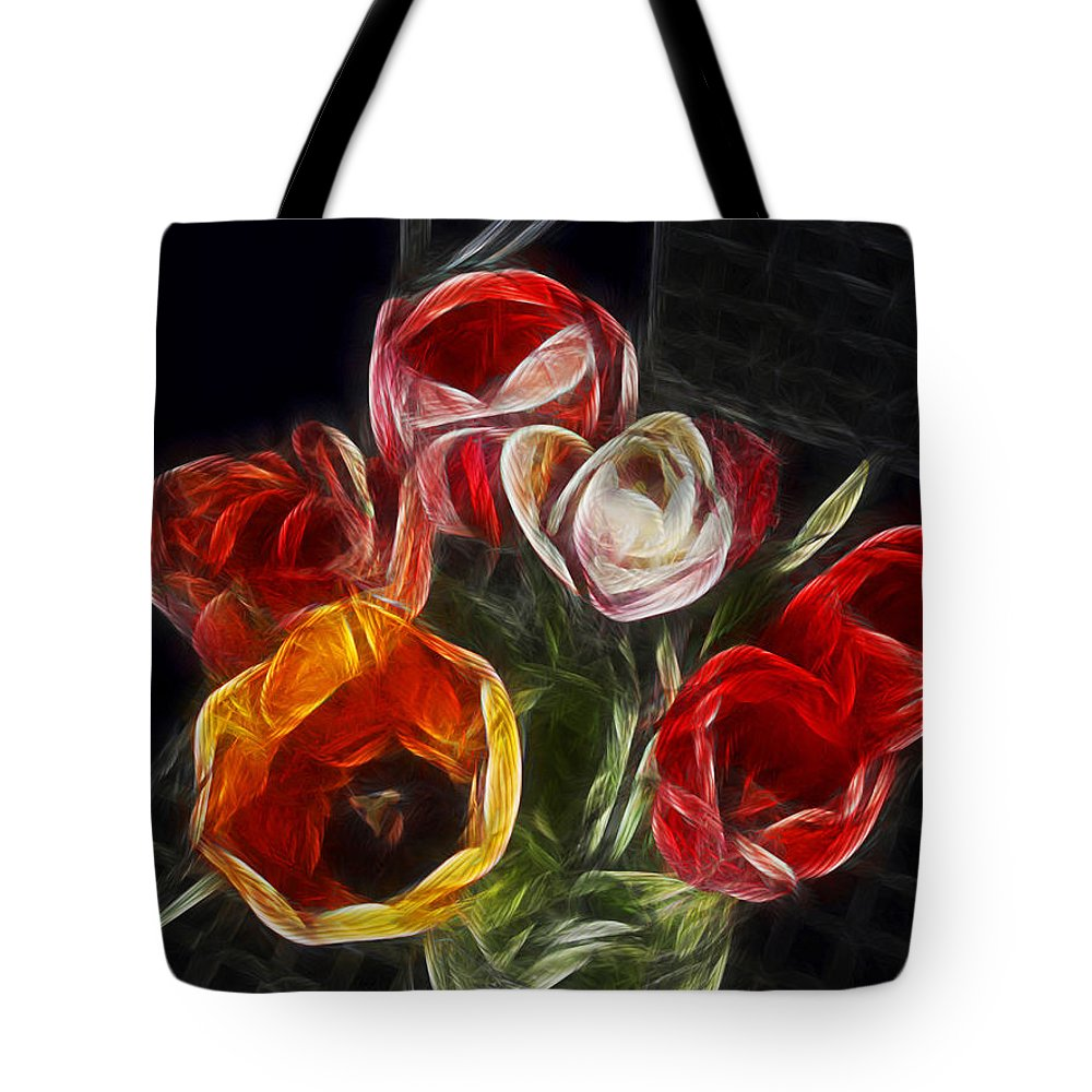 Tulip Tote Bag featuring the photograph Energetic Tulips by Joachim G Pinkawa