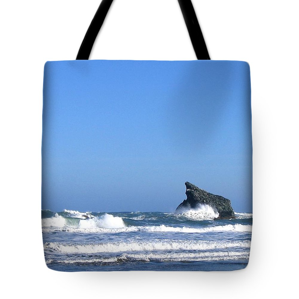 Waves Tote Bag featuring the photograph Energizing Waves by Will Borden