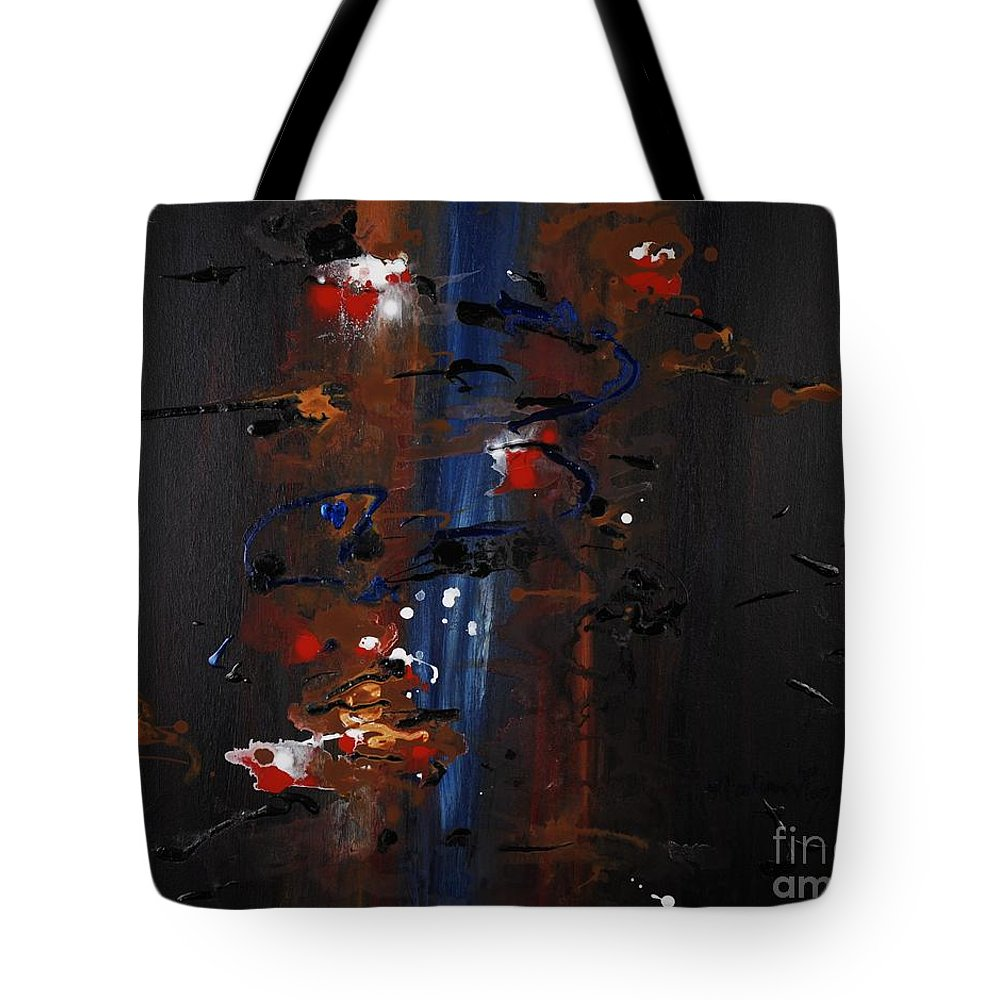 Black Tote Bag featuring the painting Energy by Nadine Rippelmeyer