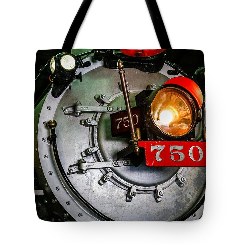 Antique Tote Bag featuring the photograph Engine 750 by Darryl Brooks