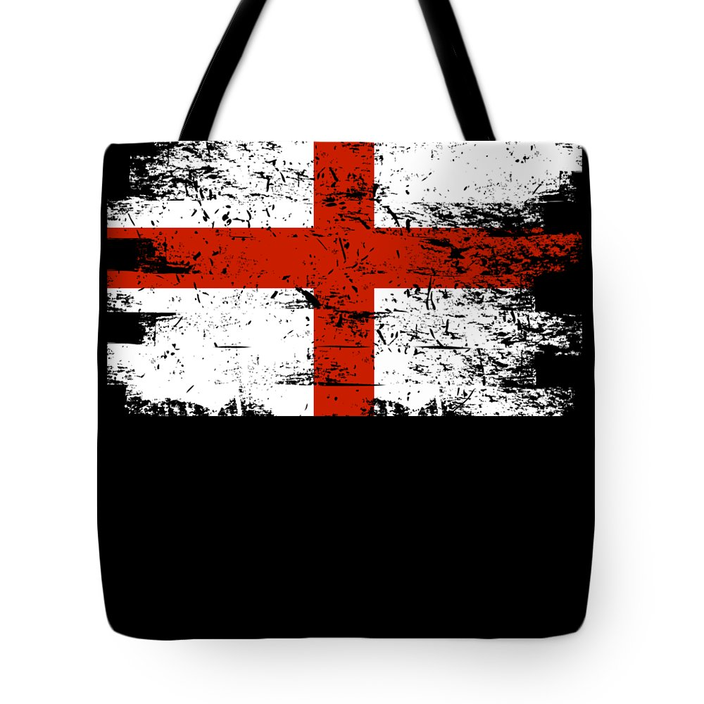Patriotic Tote Bag featuring the digital art England Gift Country Flag Patriotic Travel Shirt Europe Light by J P