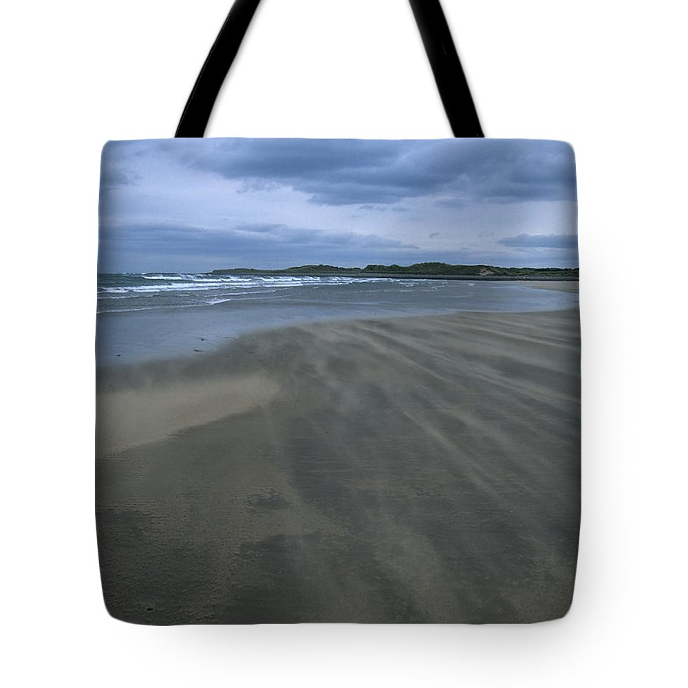 Backgrounds Tote Bag featuring the photograph England, Lindisfarne Storm Approaching by Keenpress