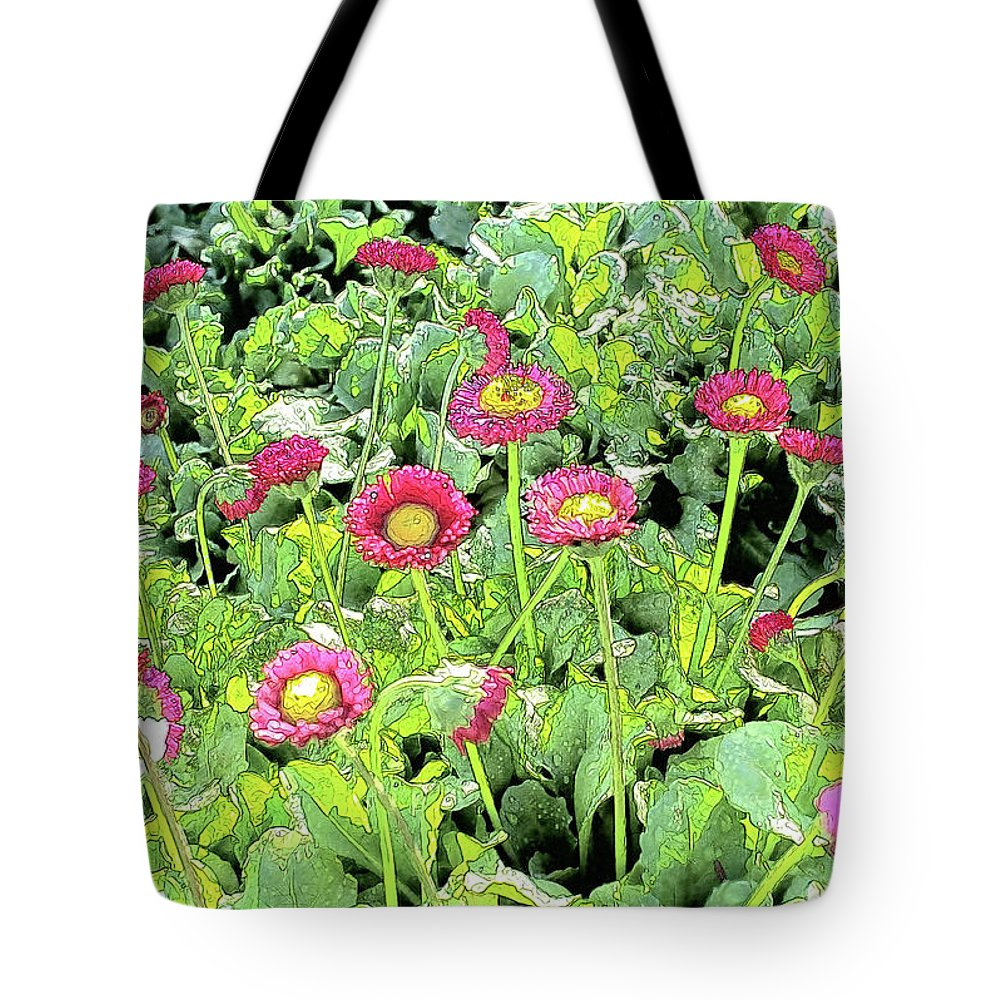 Daisy Tote Bag featuring the photograph English Daisies In Rancho Santa Fe by Kenneth Roberts