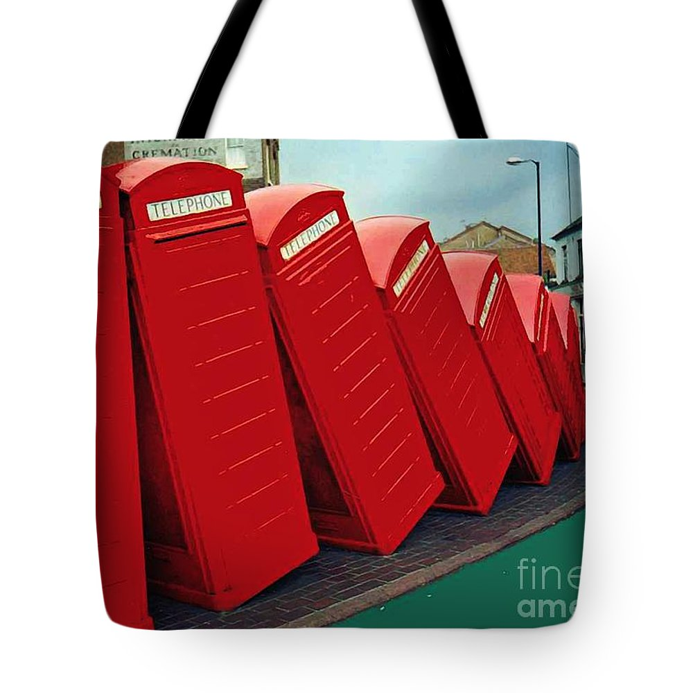 English Domino Effect Tote Bag featuring the photograph English Domino Effect by Sarah Loft