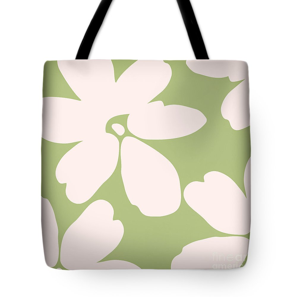 Floral Tote Bag featuring the painting English Garden Floral Pattern by Mindy Sommers