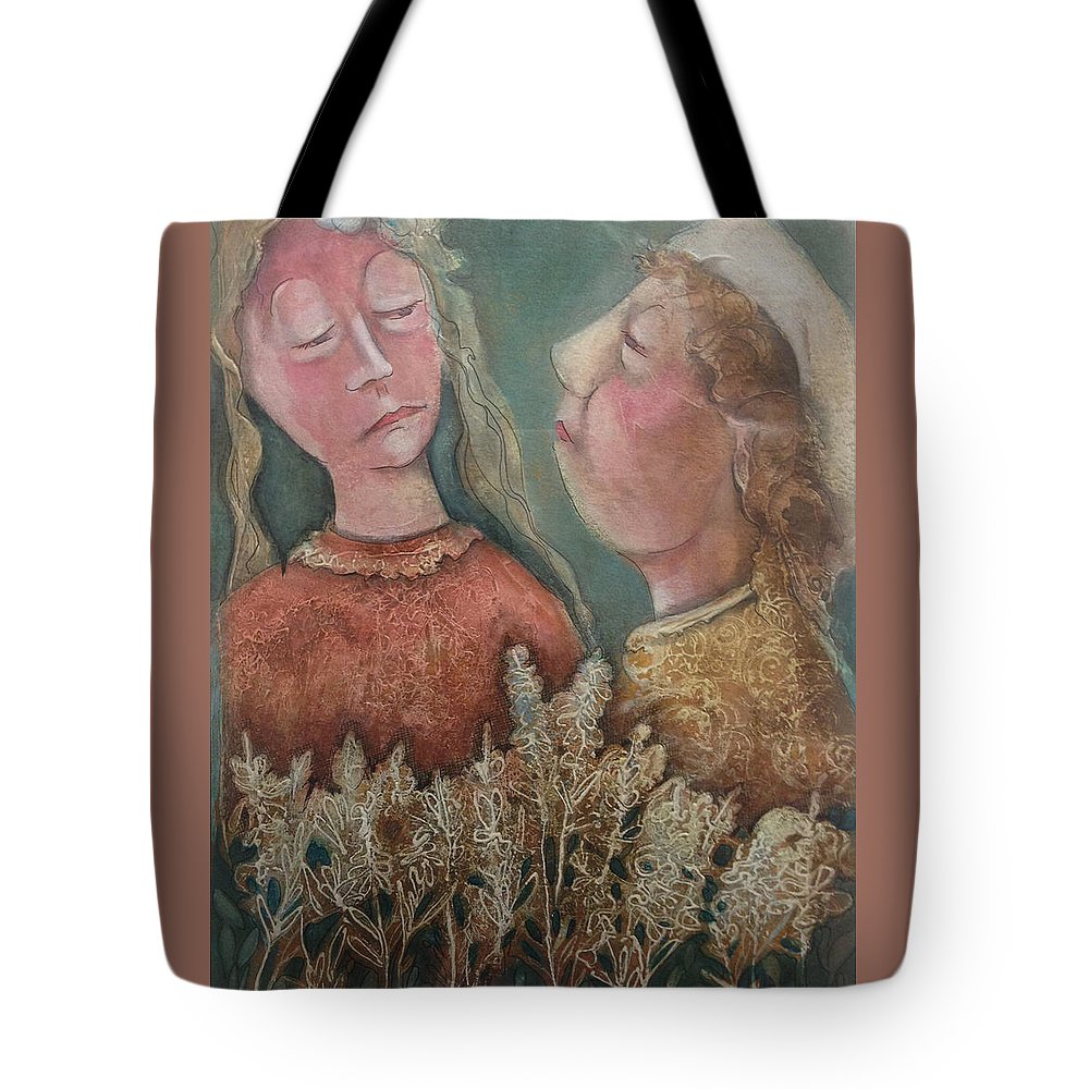 Flowers Tote Bag featuring the painting English Garden by Shane Guinn