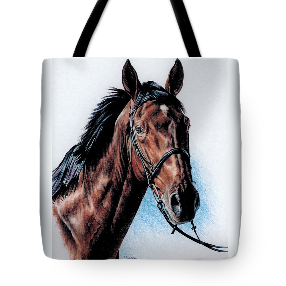 Horse Tote Bag featuring the painting English Hunter by Marni Koelln