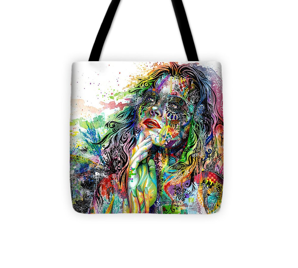Dream Tote Bag featuring the painting Enigma by Callie Fink