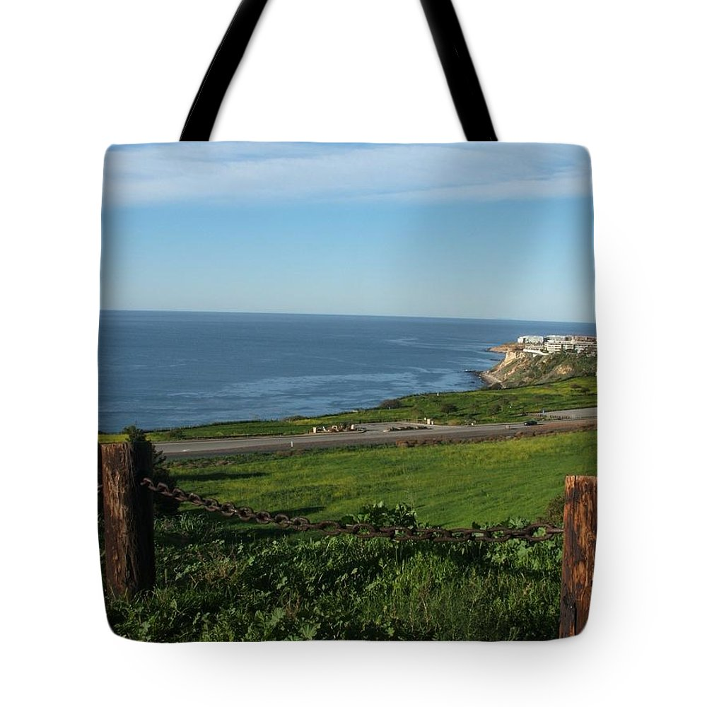 Ocean Tote Bag featuring the photograph Enjoying The View by Shari Chavira