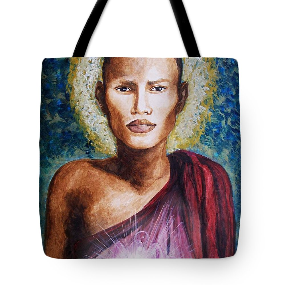 Buddha Tote Bag featuring the painting Enlightenment by Amber Stanford