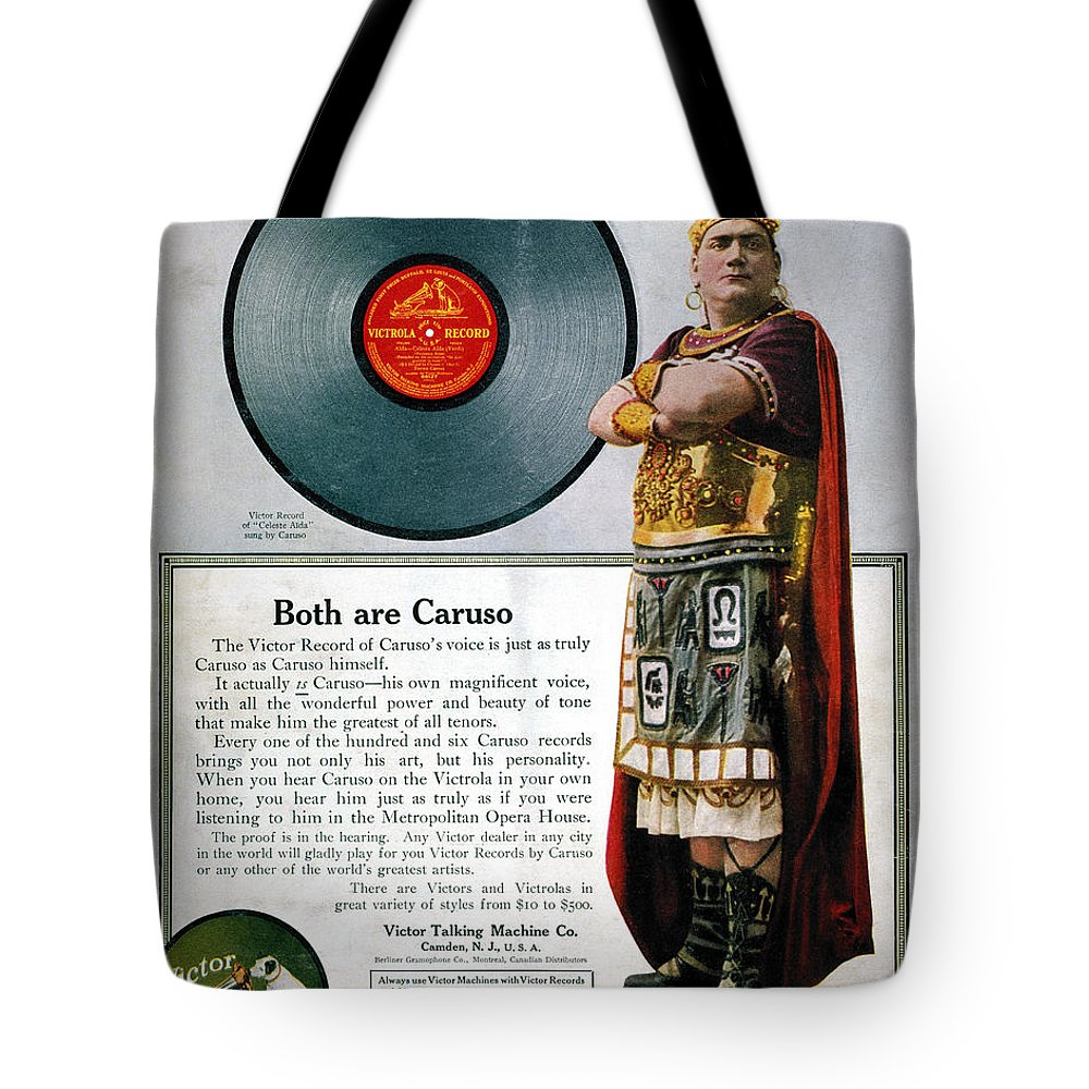 1914 Tote Bag featuring the photograph Enrico Caruso (1873-1921) by Granger