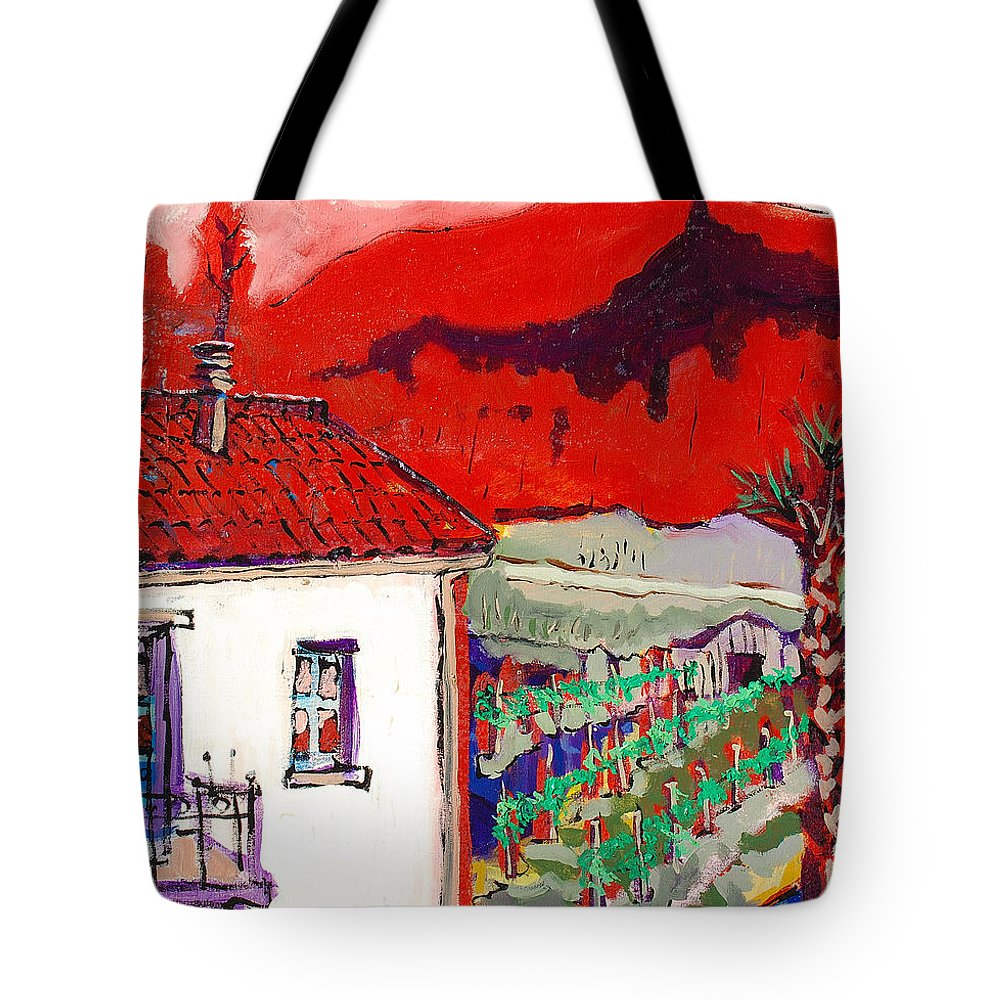 Tote Bag featuring the painting Enrico's View by Kurt Hausmann