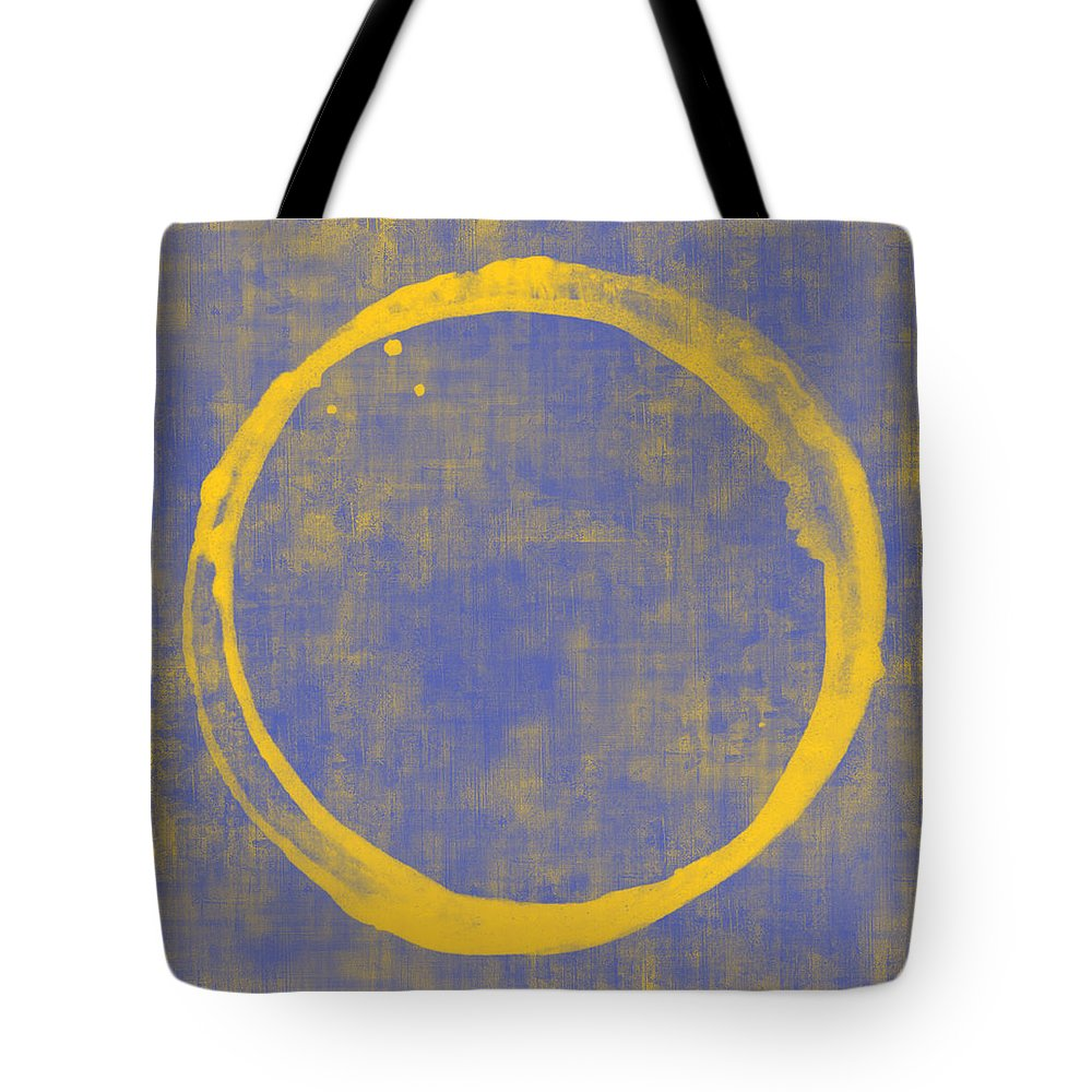 Circle Tote Bag featuring the painting Enso 1 by Julie Niemela