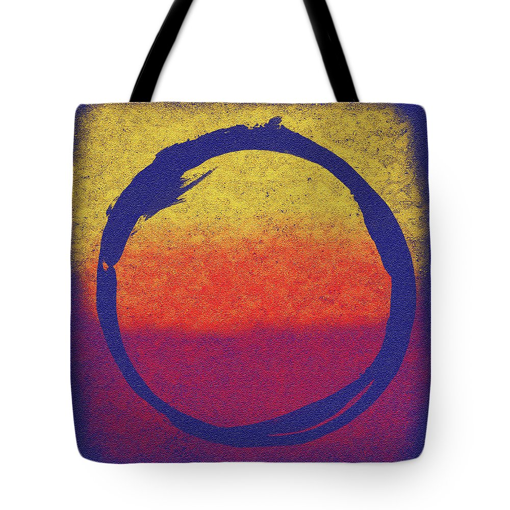 Enso Tote Bag featuring the painting Enso 6 by Julie Niemela