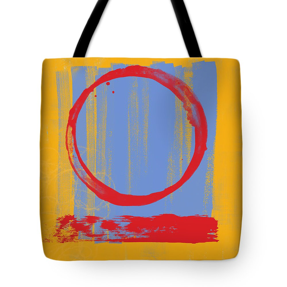 Red Tote Bag featuring the painting Enso by Julie Niemela
