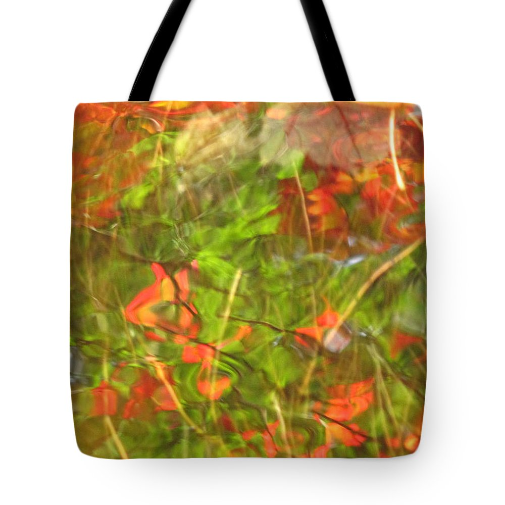 Abstract Tote Bag featuring the photograph Entangled Adrift by Sybil Staples