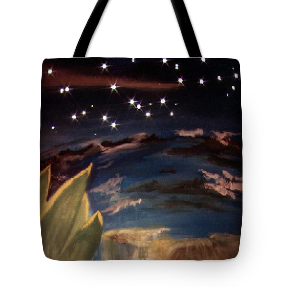 Surreal Tote Bag featuring the painting Enter My Dream by Steve Karol
