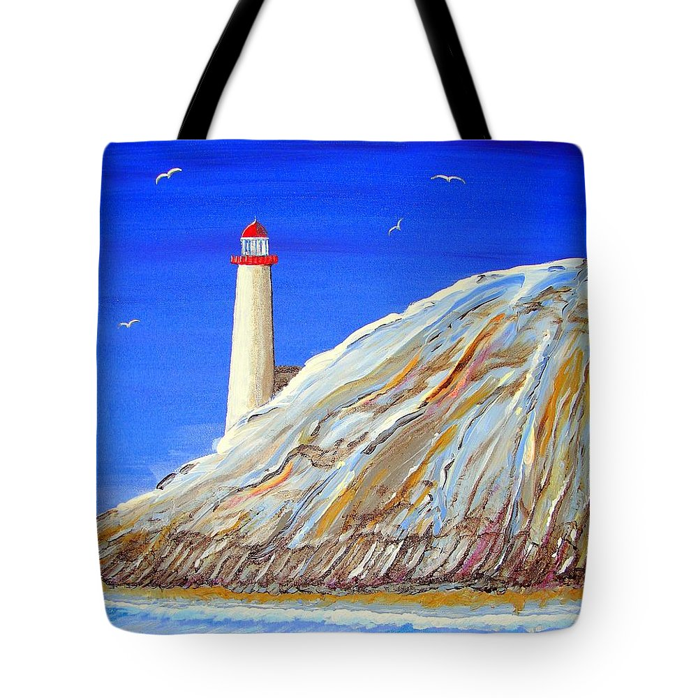Impressionist Painting Tote Bag featuring the painting Entering The Harbor by J R Seymour