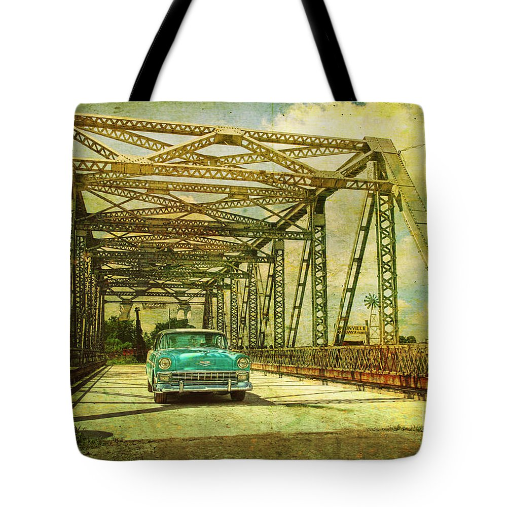 Chevy Tote Bag featuring the photograph Entering The Past by Joel Witmeyer