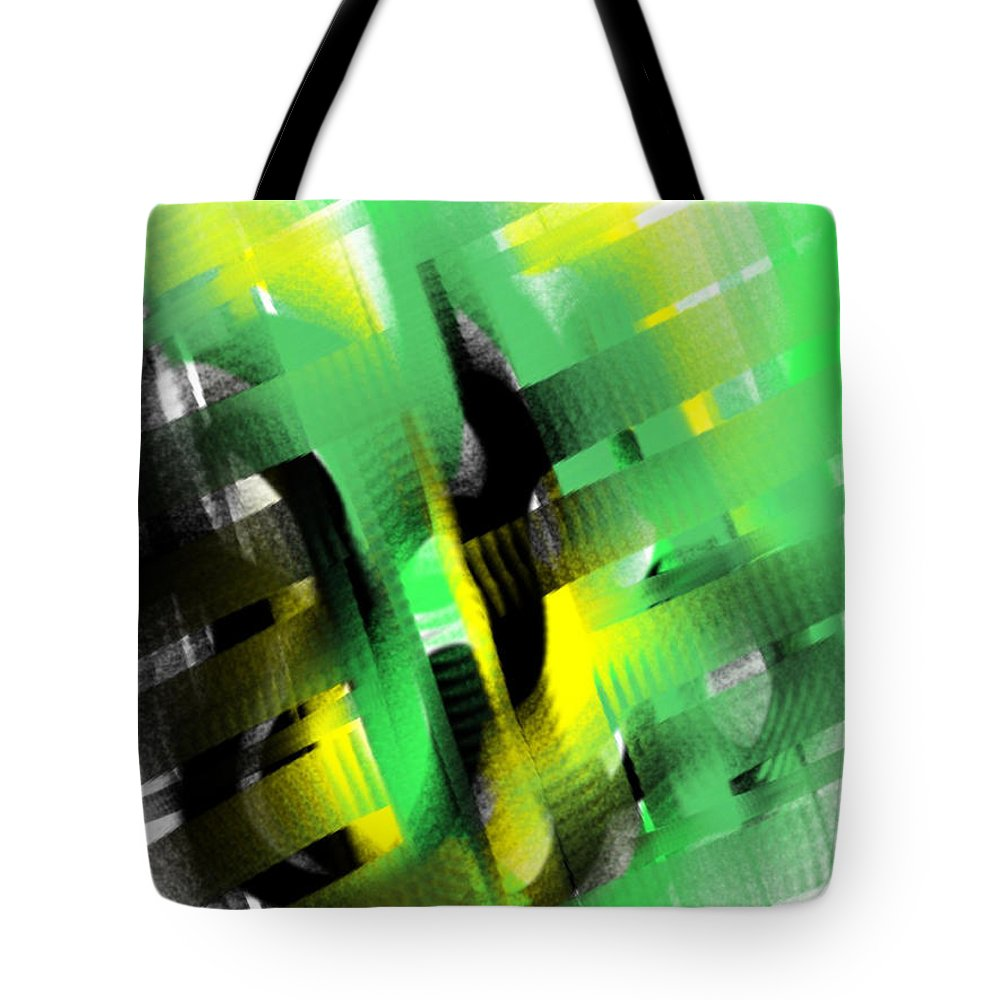 Abstract Tote Bag featuring the painting Enthralled by Frances Ku