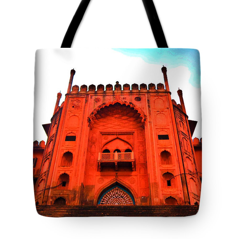 Architecture Tote Bag featuring the photograph #Entrance Gate by Aakash Pandit