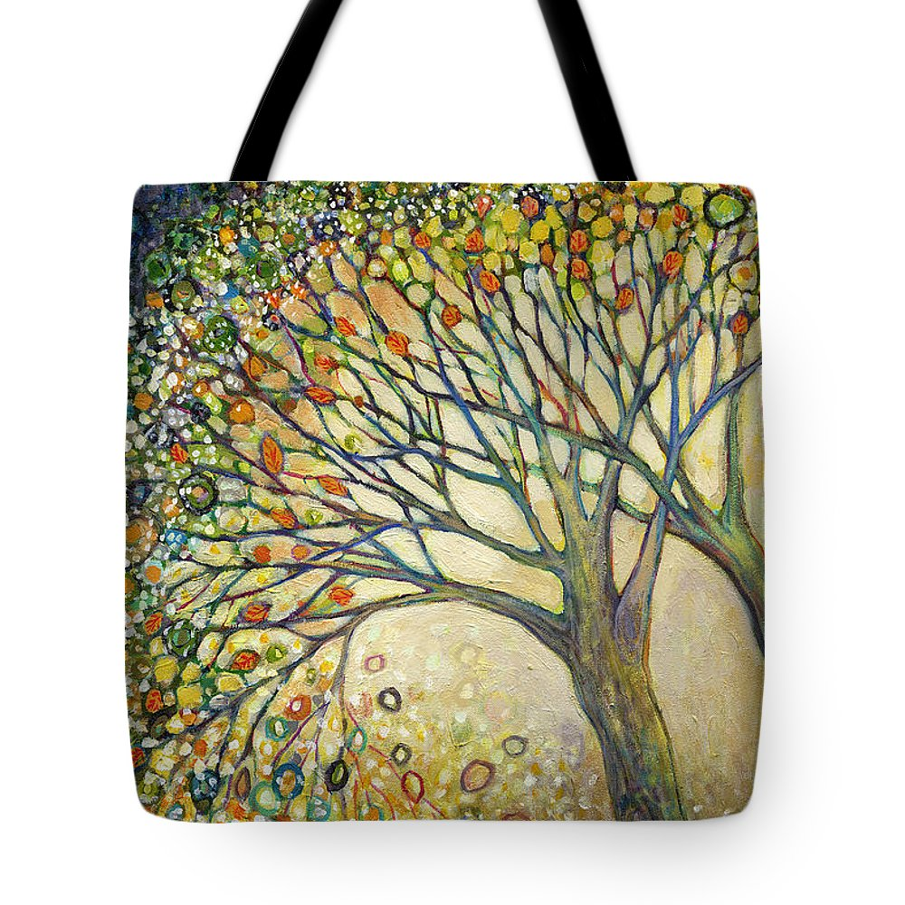 Tree Tote Bag featuring the painting Entwined No 2 by Jennifer Lommers