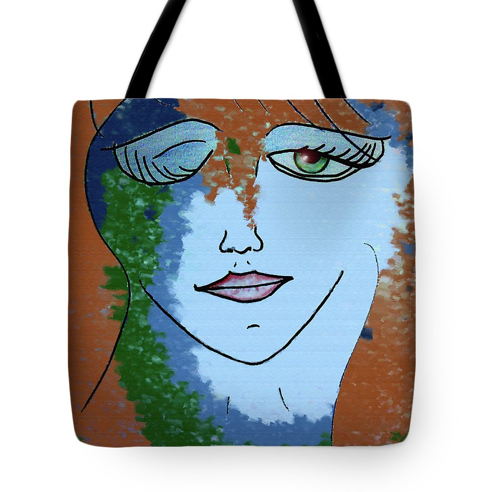 Woman Tote Bag featuring the digital art Envy by Donna Blackhall