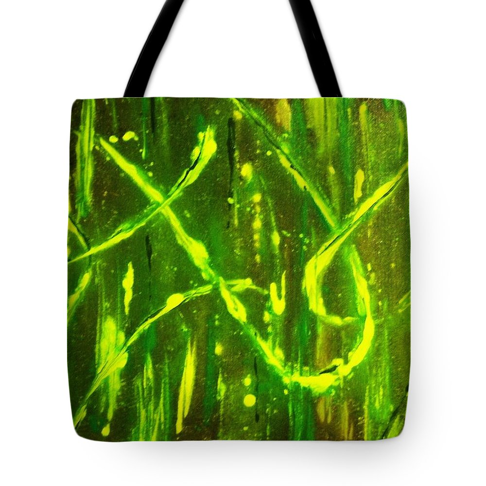 Abstract Tote Bag featuring the painting Envy by Todd Hoover