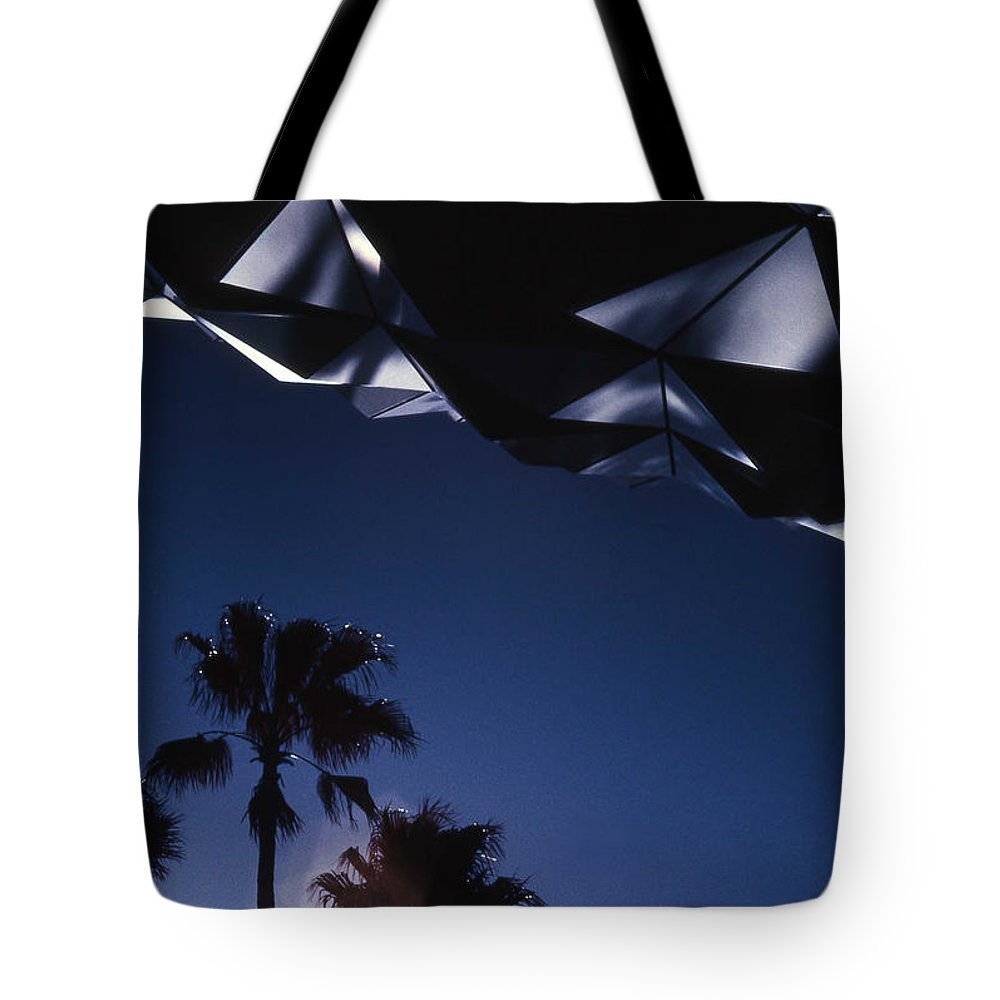 Epcot Tote Bag featuring the photograph Epcot Abstract by Richard Rizzo
