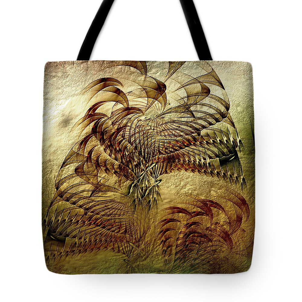 Abstract Tote Bag featuring the digital art Epoch by Casey Kotas