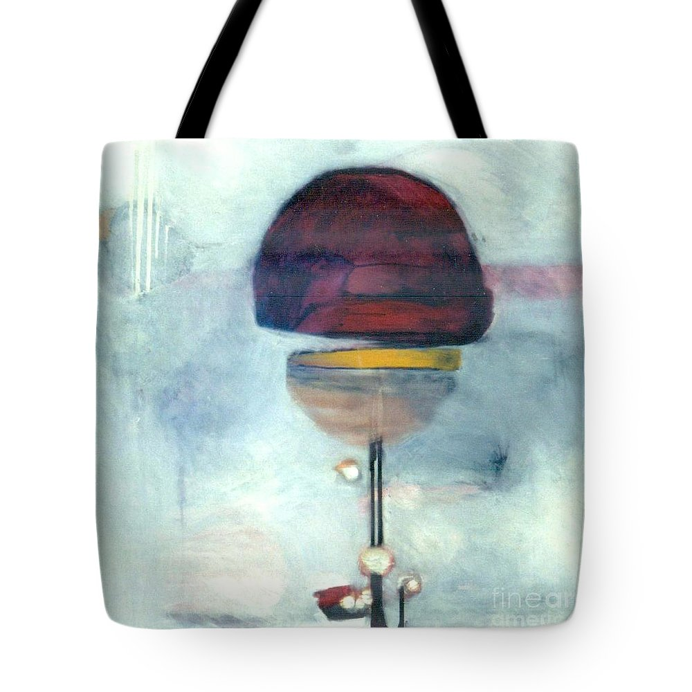 Abstract Tote Bag featuring the painting Erev Tops Jump Shot by Marlene Burns
