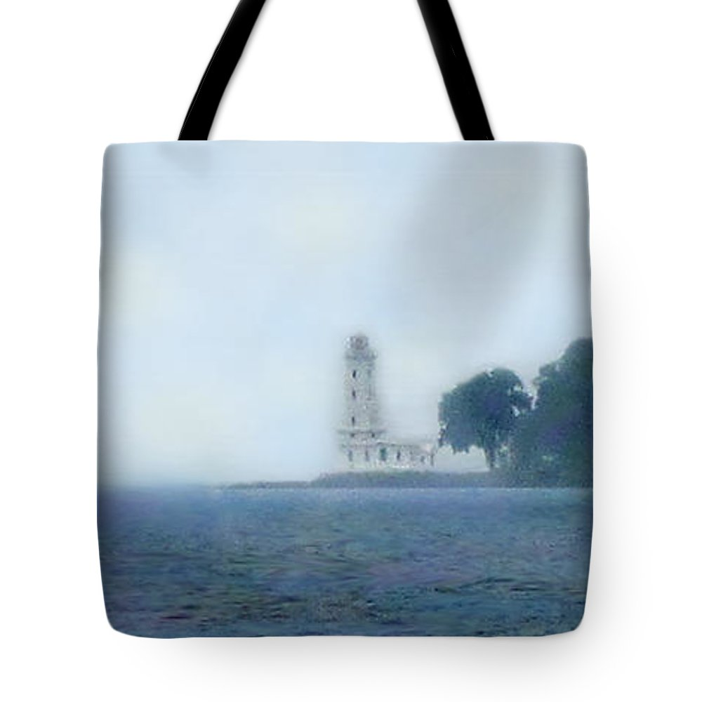 Lake Erie Tote Bag featuring the photograph Erie Light House by Ian MacDonald