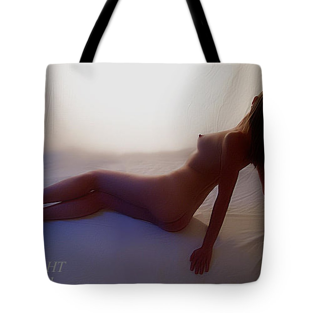 Nude Female Tote Bag featuring the photograph Erin's Silhouette by Gary at TopPhotosI