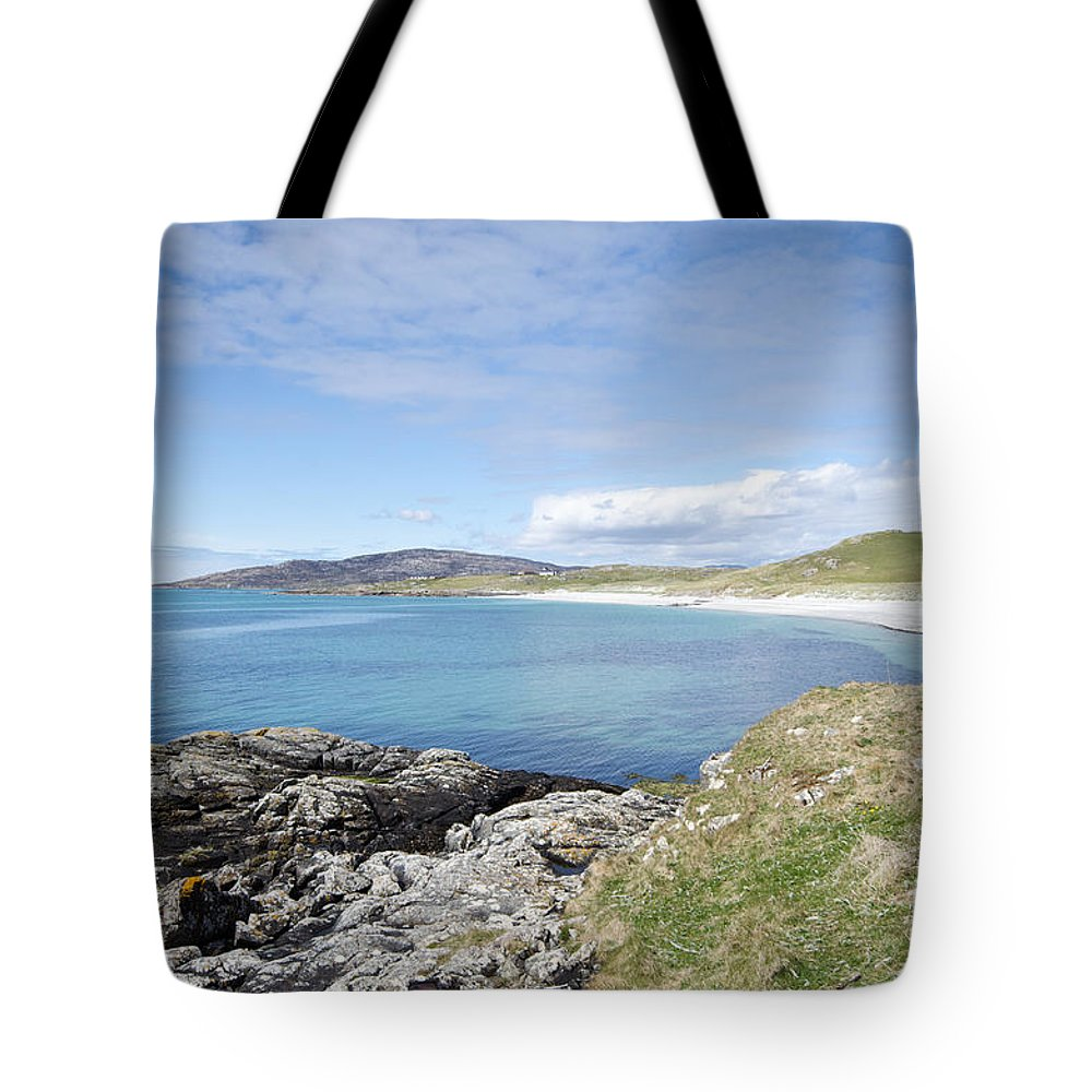 Eriskay Tote Bag featuring the photograph Eriskay Bay by Smart Aviation