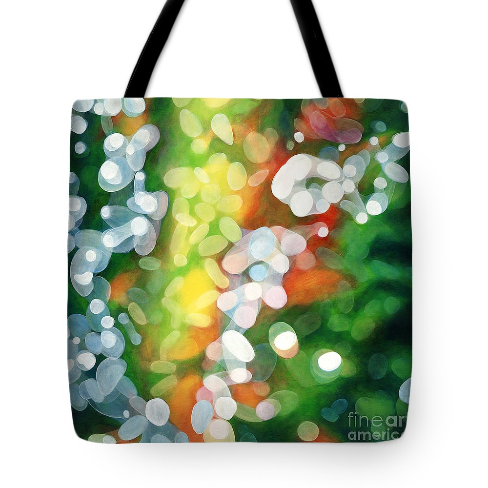 Queen Tote Bag featuring the painting Eriu Queen Of The Emerald Isle by Do'an Prajna - Antony Galbraith