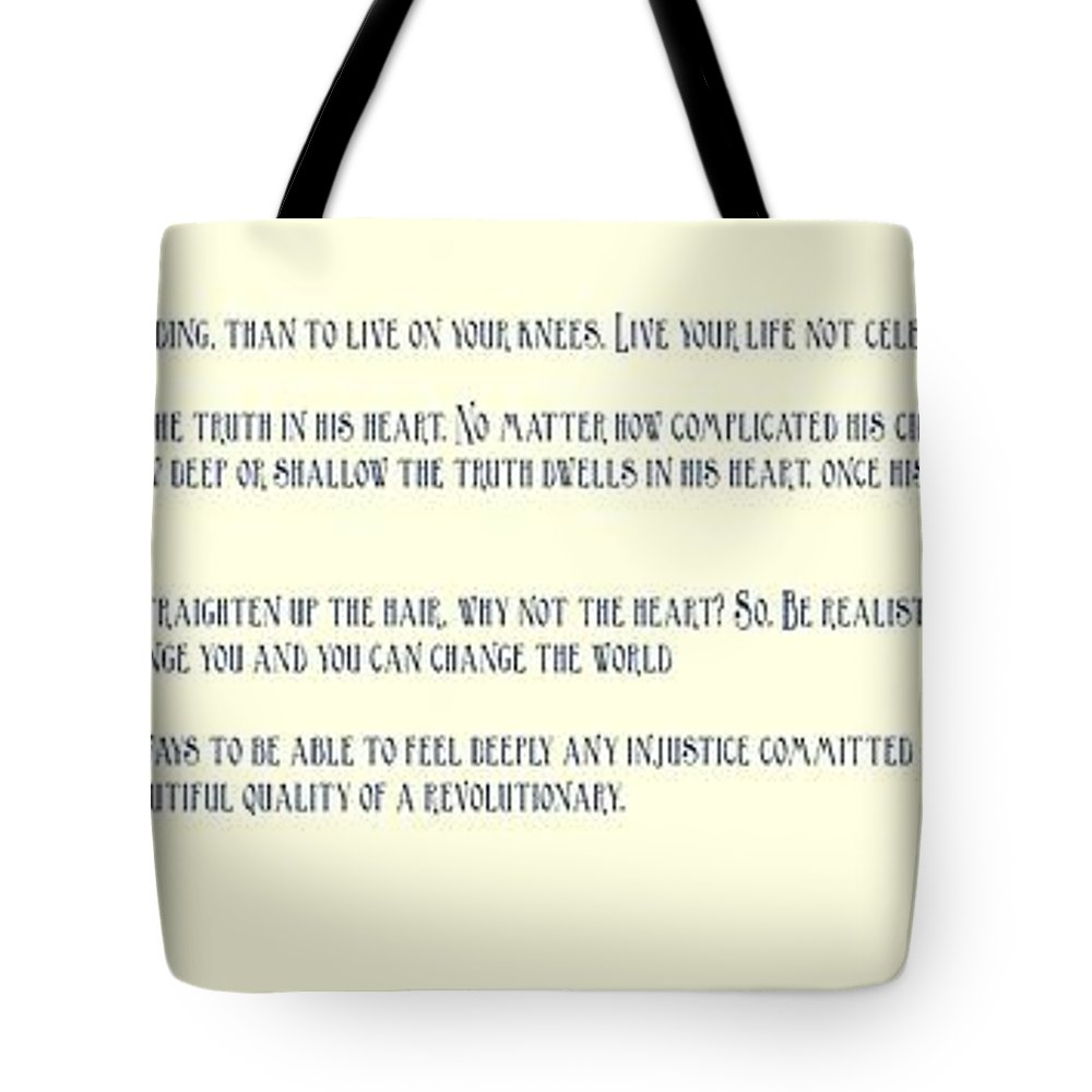 Motivational Tote Bag featuring the painting Ernesto Che Guevara Speaking 3 by Celestial Images