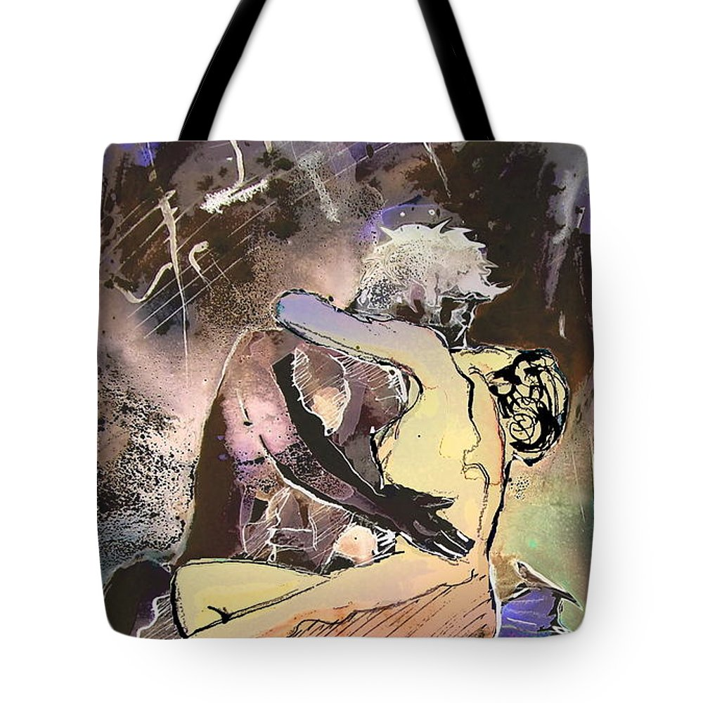 Miki Tote Bag featuring the painting Eroscape 09 2 by Miki De Goodaboom