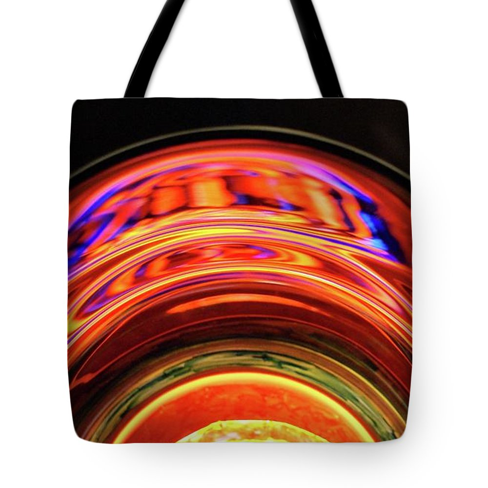 Abstract Tote Bag featuring the photograph Eruption # 8 by Paolo Staccioli
