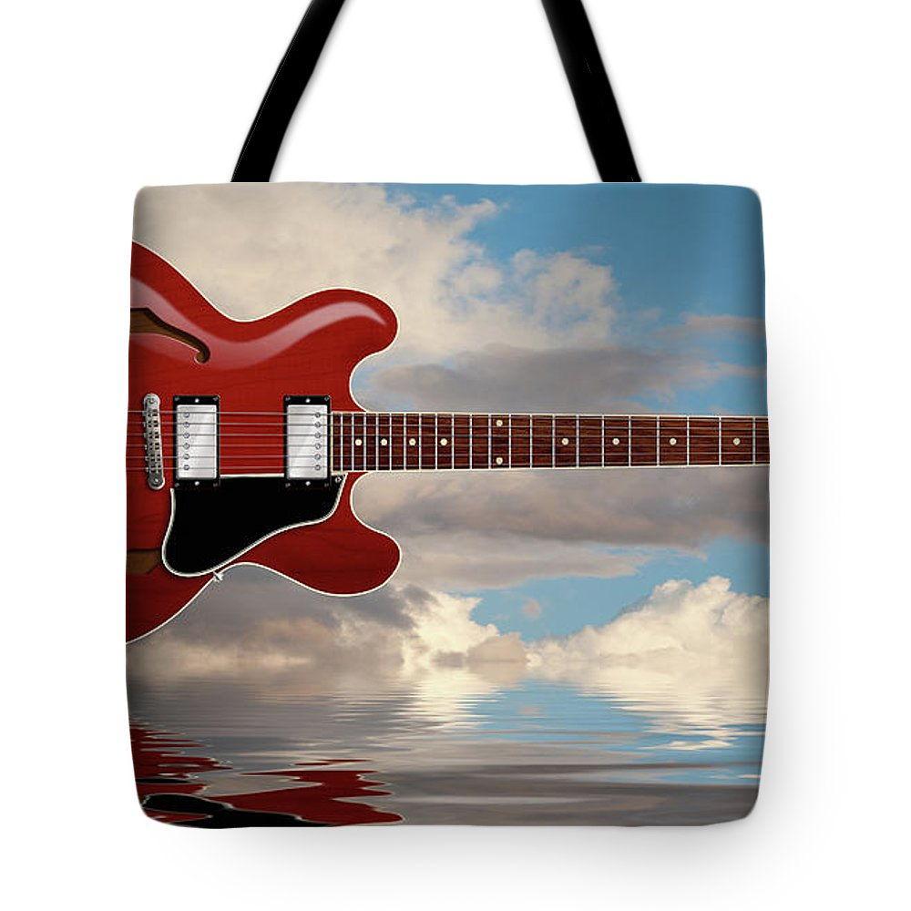 Es-335 Tote Bag featuring the digital art Es 335 Guitar by WB Johnston