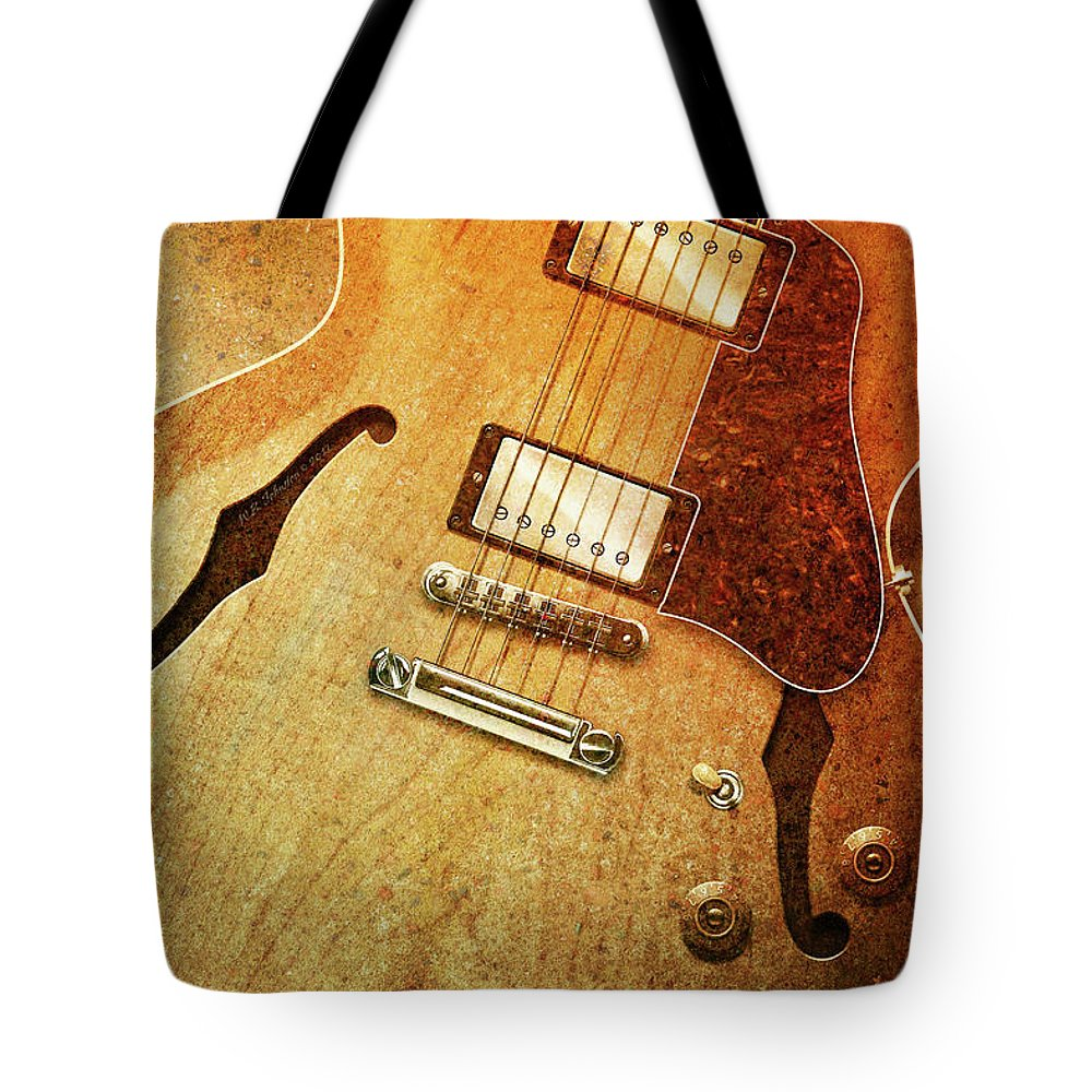 Gibson Tote Bag featuring the digital art Es-335 by WB Johnston