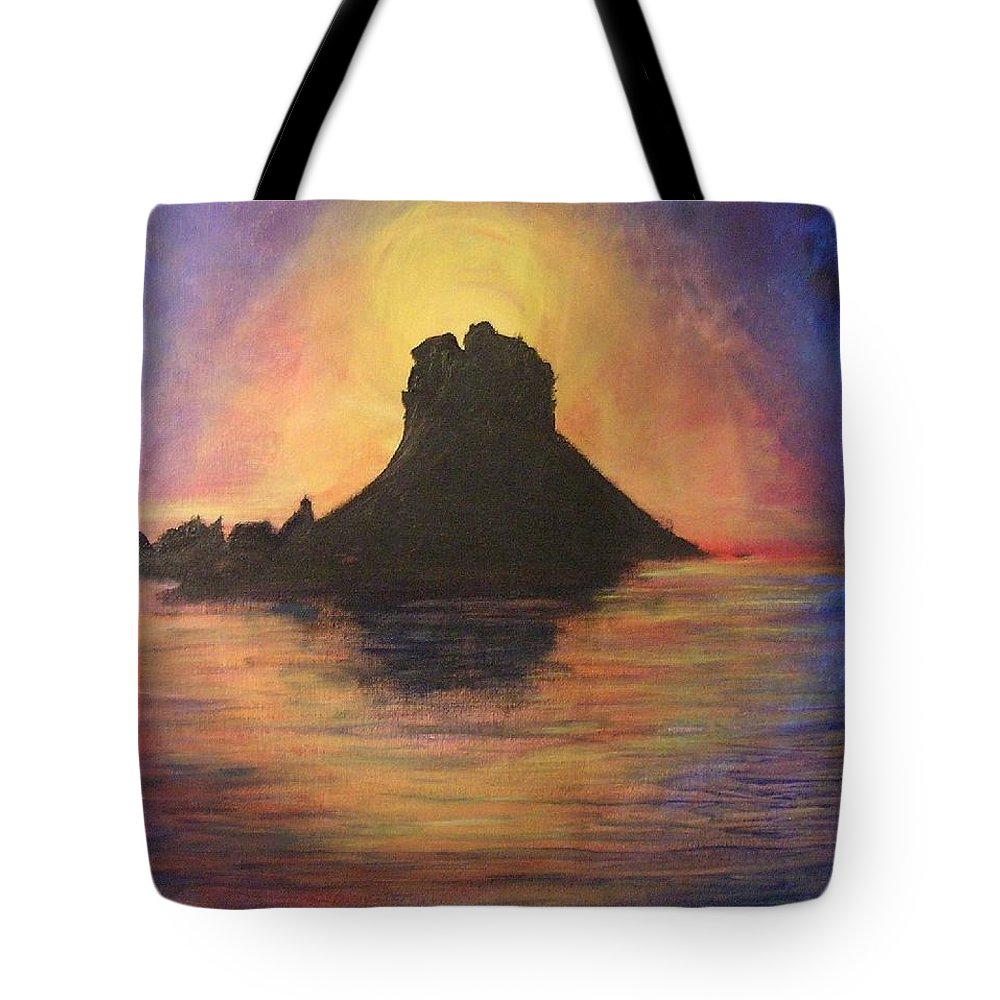 Sunset Tote Bag featuring the painting Es Vedra Sunset I by Lizzy Forrester