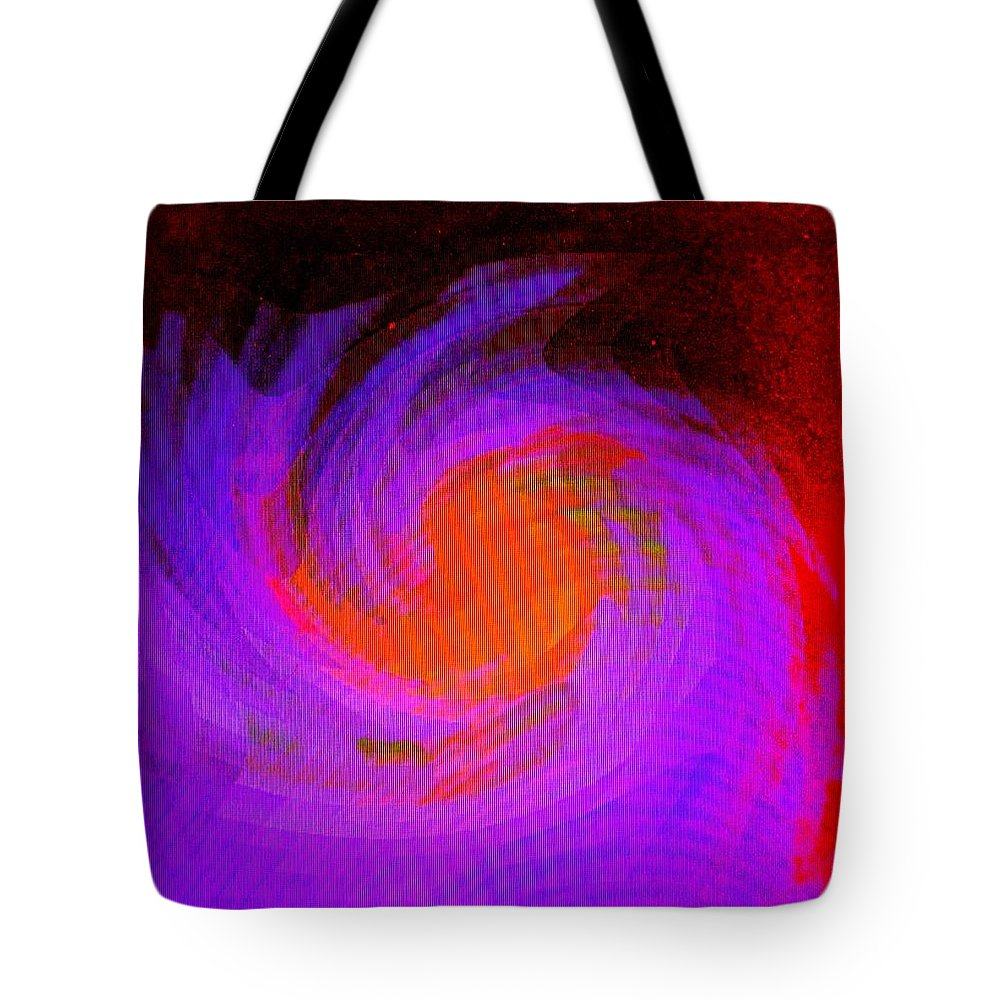Abstract Tote Bag featuring the digital art Escape by Ian MacDonald