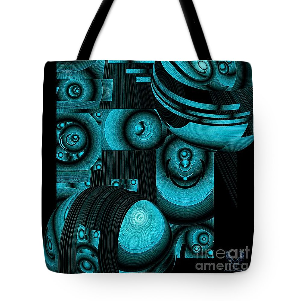 Colorful Tote Bag featuring the digital art Escape Their Box by Dale Crum