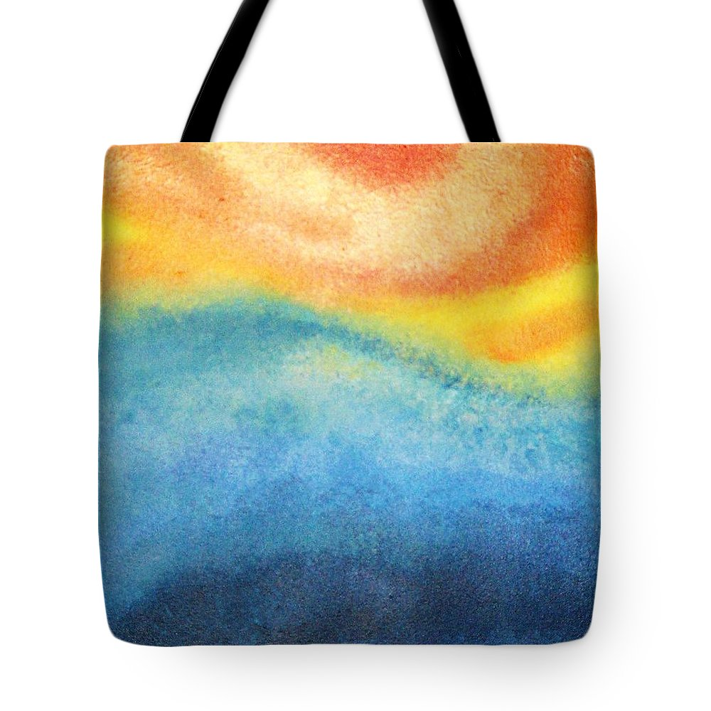 Escape Tote Bag featuring the painting Escape by Todd Hoover