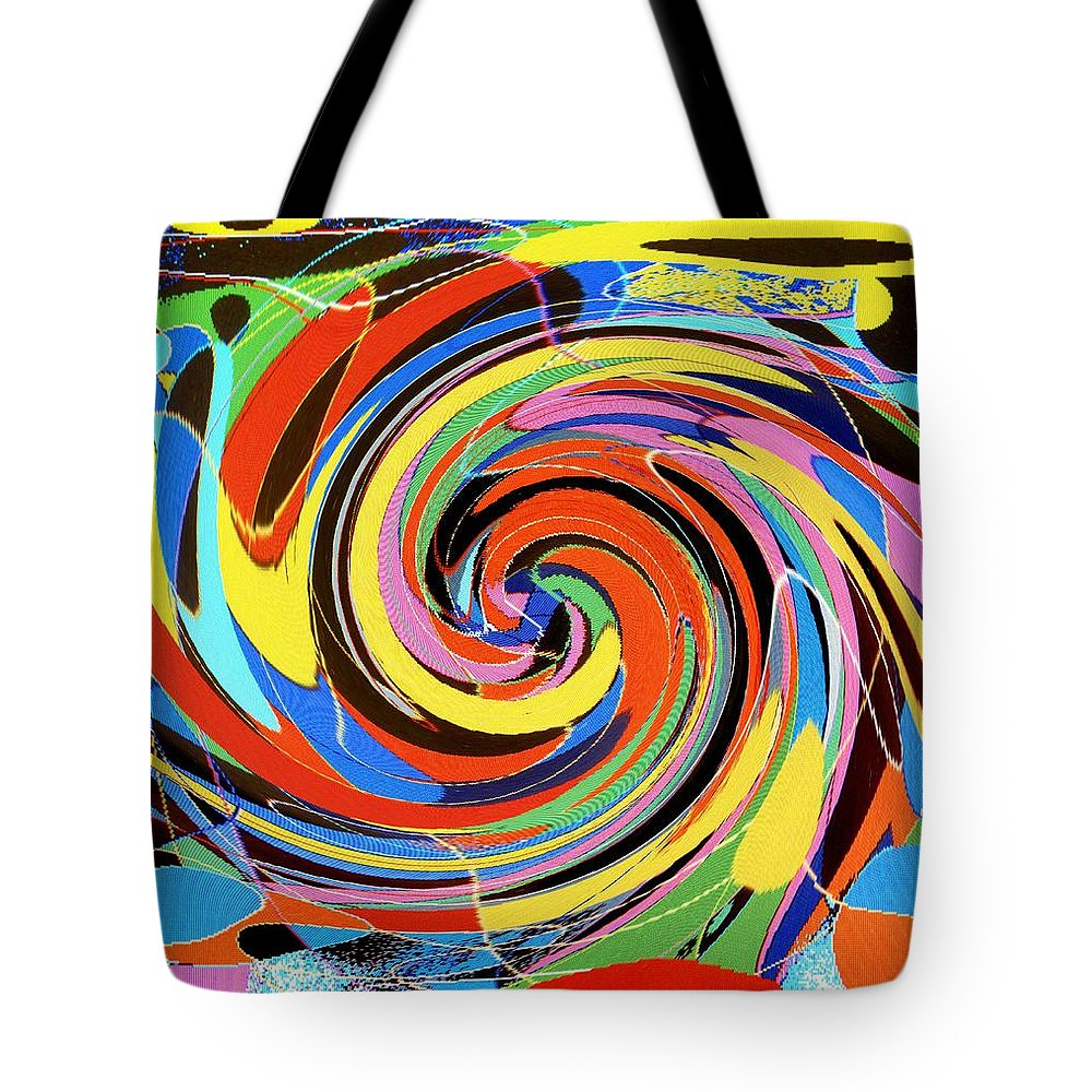Tote Bag featuring the digital art Escaping The Vortex by Ian MacDonald