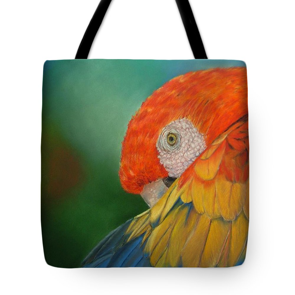 Bird Tote Bag featuring the painting Escondida by Ceci Watson
