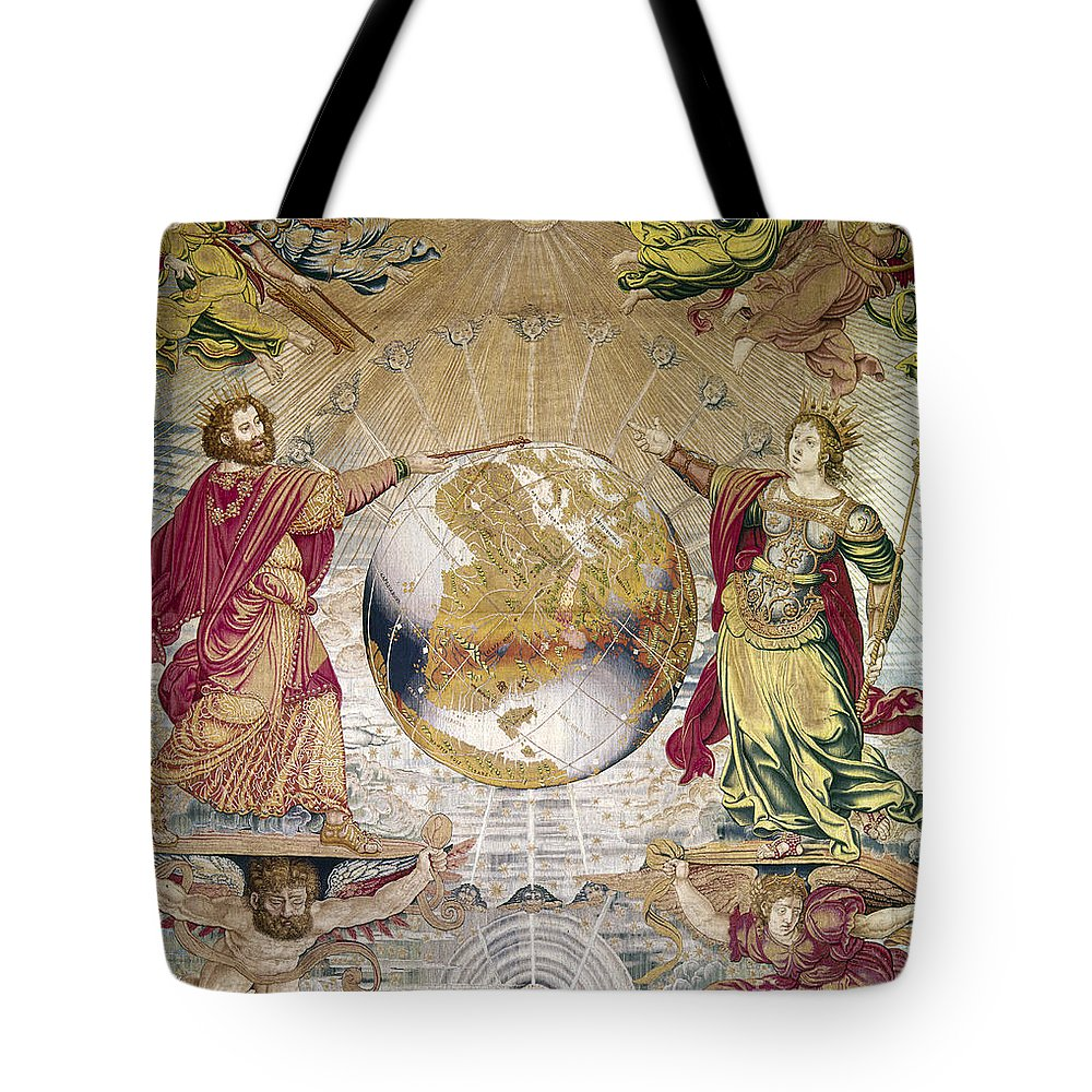 16th Century Tote Bag featuring the photograph Escorial: Tapestry by Granger