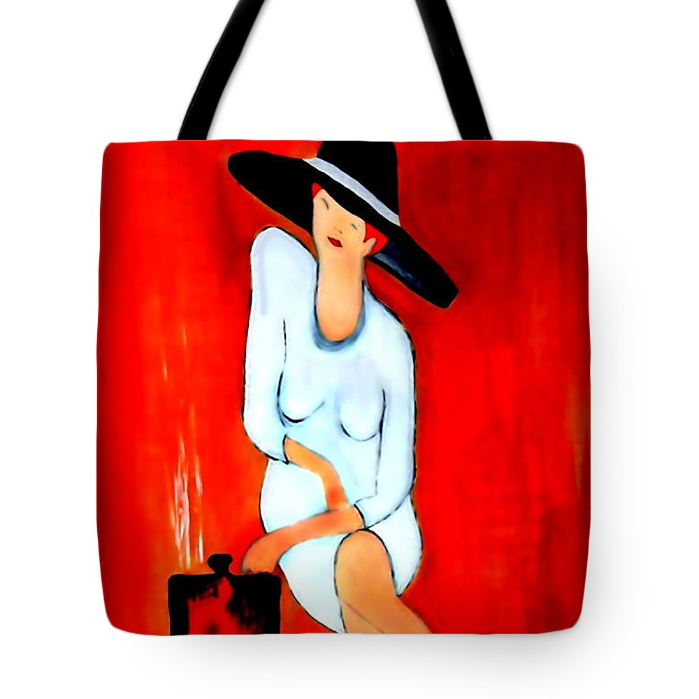 Italian Tote Bag featuring the digital art Espresso by Helmut Rottler