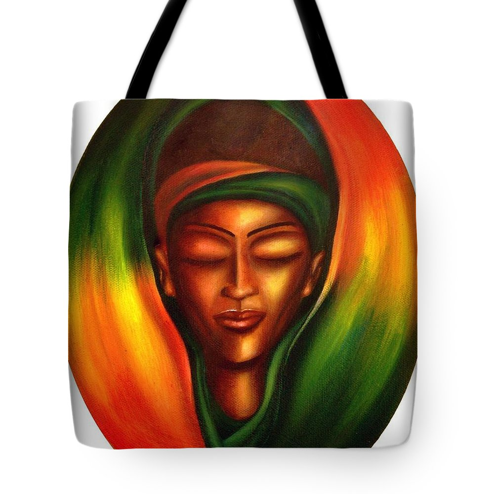 Beauty Tote Bag featuring the painting Essence by Lee Grissett
